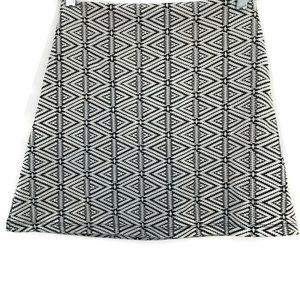 TOPSHOP Aztec Geometric Pattern Lined Mini Skirt